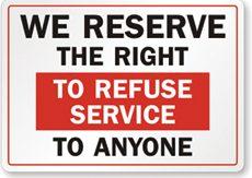 refuseservice