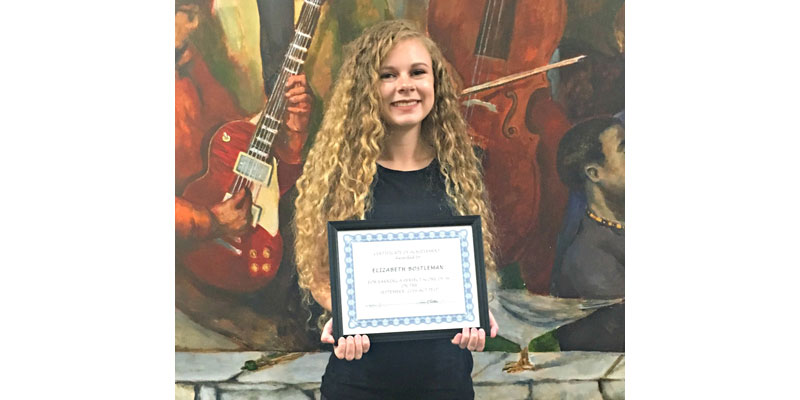 Elizabeth Bostleman, a senior at The Toledo School for the Arts, scored a perfect 36 on her ACT.