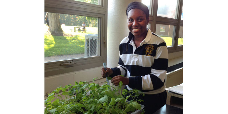 St. Ursula senior Nuurah Parsons is the project leader of the STEM team's environmental group.