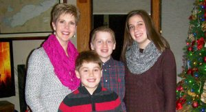 Karen Zickes and her three children share more smiles and fewer tears  each holiday as they create new traditions.