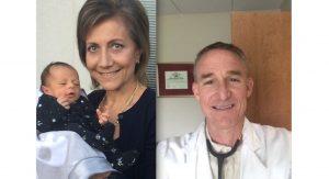Dr. Aroub Al-Ayoubi (L)  and Dr. R.W. Mills, M.D. (R) offer advice to help newborns sleep safely.