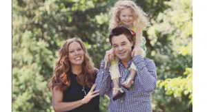 Bobbi Johnson-Filipiak, with her husband James, and daughter Kate, now 4.