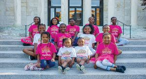 Members of Groomed for Greatness, a local nonprofit for girls ages 4-18 aimed at empowerment through exposure, enjoy a field trip to the Toledo Museum of Art.