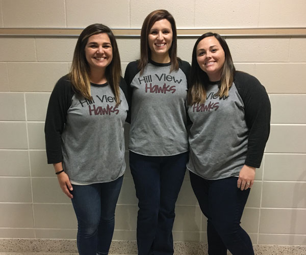 Kindergarten Hill View Team: teachers Lindsay Templeton, Andrea Swindel, and Stephanie Evearitt