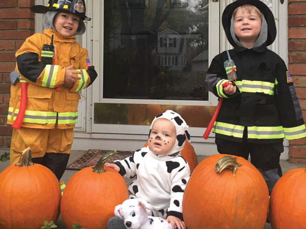Little Firefighters and a couple of puppies!