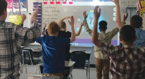 Students at Birmingham Elementary School demonstrate GoNoodle programming.