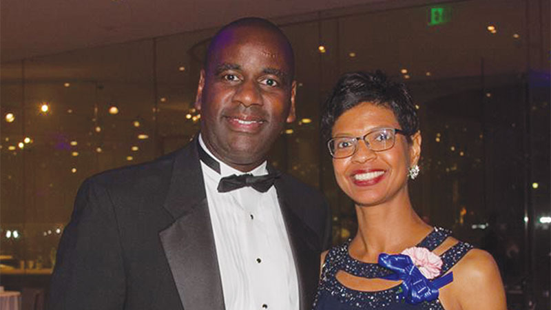 Legacy member Kelli Winston and husband, Thomas.