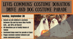 Levis Commons' Costume Donation Drive and Dog Costume Parade (1)