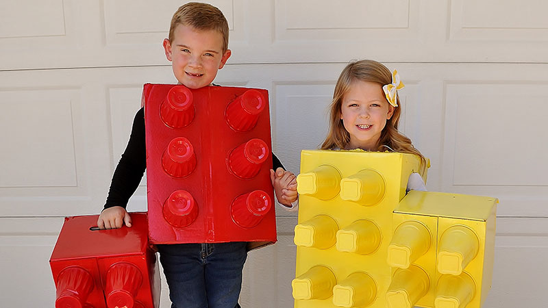 Emmet in red (6), and Eleanor in yellow (5). (Ann Arbor)