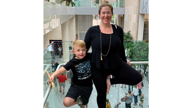 Erin with her son, Dexter (6), at Main Library