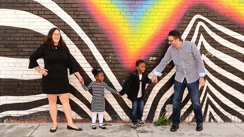 The Adams-Brewer family. Photo by Brenna Adams.