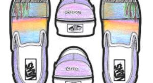 Winning Vans shoes design drawing